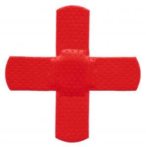 Rdeči obliž v obliki križa